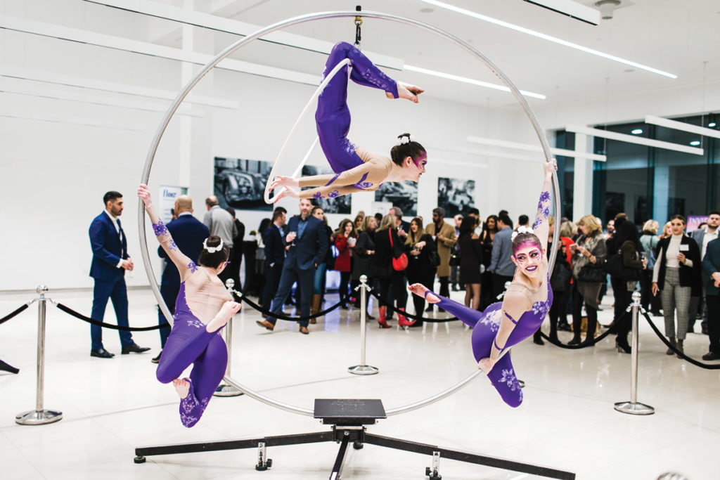 Cirque Performance At Budds Jaguar Event